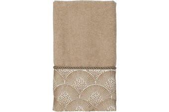 (One Size, Rattan) - Avanti Linens Deco Shell Fingertip Towel, One Size, Rattan