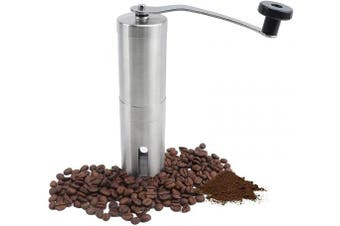 VIGIND Manual Coffee Grinder with Adjustable coarse,Hand Coffee Mill Small Burr Grinder Ceramic Burr,Portable Stainless Steel Hand Coffee Bean Grinder for Office,Home, Travelling,Camping