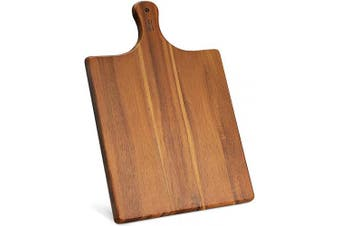 """(17 x 11"""" x 1.5cm  With Handle) - AIDEA Wood Cutting Board Large Charcuterie Board Serving Tray With Handle (43cm x 28cm )"""
