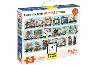 (Alphabet Train) - Banana Panda Alphabet Train Suuuper Size Puzzle for Kids Ages . Up