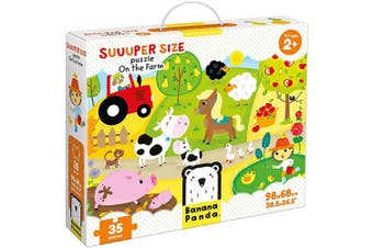 (On the Farm) - Banana Panda - Suuuper Size Puzzle On the Farm - Large Jigsaw Floor Puzzle for Kids . and Up