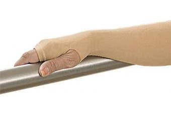 (Large, Beige) - GeriGlove® Elderly Skin Protectors, Thin Skin Tear & Light Bruise Protective Geri Arm Sleeve - 100% Made in USA (Large/Beige)