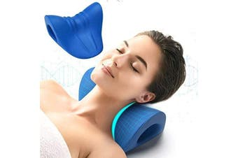 (O-shape 8.6 X 8.3 X 5 Inch) - Neck and Shoulder Relaxer, Cervical Traction Device for TMJ Pain Relief and Cervical Spine Alignment, Chiropractic Pillow