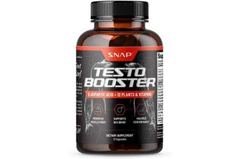 (21 Capsules) - Snap Supplements Men's Testo Booster - Improves Performance Blood Flow, Promotes Muscle Fast, Optimises Natural Stamina, Energy, Endurance and Strength - 21 Capsules