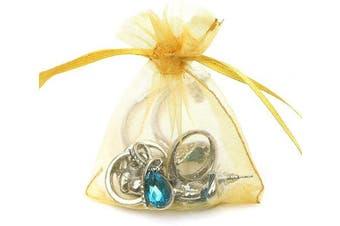 (7.6cm  X 10cm (100PCS), Gold) - Boshen 100/200PCS Organza Gift Candy Sheer Bags Mesh Jewellery Pouches Drawstring Bulk for Wedding Party Favours Christmas 7.6cm x 10cm 13cm x 18cm (7.6cm X 10cm (100PCS), Gold)