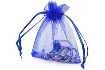 (7.6cm  X 10cm (100PCS), Royal Blue) - Boshen 100/200PCS Organza Gift Candy Sheer Bags Mesh Jewellery Pouches Drawstring Bulk for Wedding Party Favours Christmas 7.6cm x 10cm 13cm x 18cm (7.6cm X 10cm (100PCS), Royal Blue)