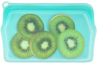 (Blue - Snack) - LOKASS Reusable Snack Bag Reusable Food Storage Bag, Snack Size, 100% Pure Silicone, BPA Free, Sous Vide, Waterproof & Leak proof, 19cm x 12cm (290ml), Blue