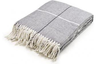 (Gray) - Arus Highlands Collection Tartan Plaid Design Throw Blanket Grey 150cm X 200cm