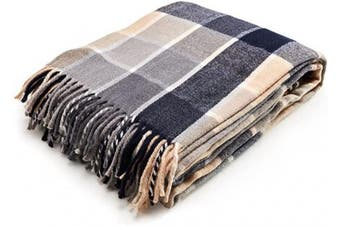 (Blue) - Arus Highlands Collection Tartan Plaid Design Throw Blanket Blue 150cm X 200cm