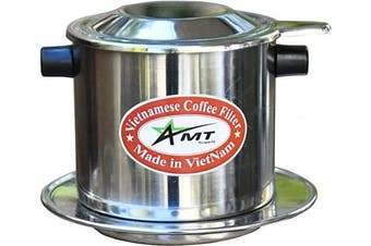 (8, Stainless Steel) - AMT Vietnamese Coffee Maker Phin Coffee Vietnamese Coffee Filter Vietnam Coffee Dripper for making Vietnamese Style at Home Office(8, Cork)
