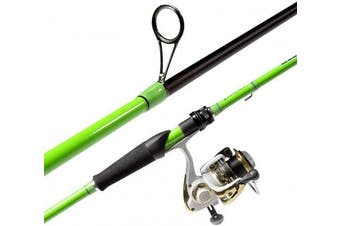"""(Spinning-7'4"""" Medium-Green) - Akataka M'Wave Bass Fishing Rod - 2pcs Collaspible Casting Rod Spinning Rod with 24Ton Carbon Fibre,Durable Reel Seat, Efficient Heat Dissipation Guide."""