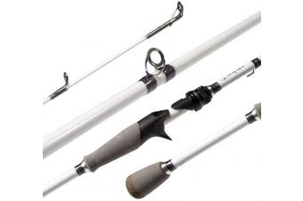 """(Casting-7'6"""" Medium Heavy-White) - Akataka M'Wave Bass Fishing Rod - 2pcs Collaspible Casting Rod Spinning Rod with 24Ton Carbon Fibre,Durable Reel Seat, Efficient Heat Dissipation Guide."""