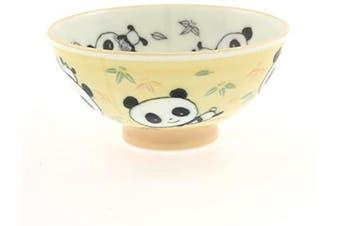 2 Pc Japanese Yellow Panda/green Bmb Rice Bowl Set Includes 2 Bowls