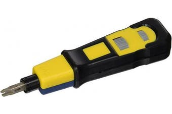 Platinum Tools 13159C PRO-Strike Punchdown Tool, with Combo Blade, Clamshell packaging