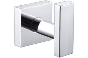 (Heavy Duty Hook - Polished Chrome) - Bathroom Towel Hook, Angle Simple SUS304 Stainless Steel Bath Towel Holder, Heavy Duty Garage Wall Hook, Single Robe Coat Hook Polished Chrome