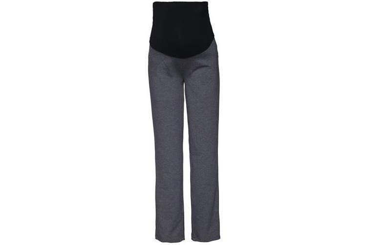 (8-10, Short Length Graphite Melange) - HAPPY MAMA. Women's Maternity Pants. Available in 3 Leg Lengths. 691p