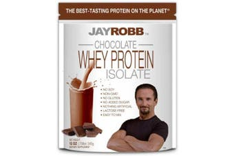 (Convenient Individual Serving Packet, Chocolate) - Jay Robb Whey Isolate Protein Powder, Low Carb, Keto, Vegetarian, Gluten Free, Lactose Free, No Sugar Added, No Fat, No Soy, Nothing Artificial, Non-GMO, Best-Tasting (Convenient Individual Serving