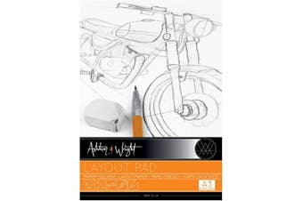 Ashton and Wright - A3 Semi Transparent Layout Pad - High Quality 50gsm Paper - 60 Sheets