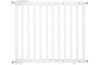 (White) - Badabulle Deco Pop White Extending Safety Gate | 63 to 106cm Wide | Pressure fit or Screw Mounted