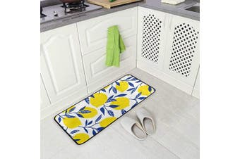 (Watercolor Lemons) - AGONA Anti Fatigue Kitchen Mat Tropical Fruits Yellow Lemons Kitchen Floor Mat Soft Standing Mats Absorbent Area Rugs Non Slip Kitchen Rugs Bath Rug Runner Carpet for Home Decor Indoor Outdoor