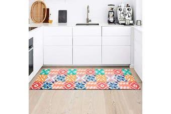 (46cm  x 150cm ) - Kitchen Rug Mat, Standing Anti Fatigue Comfort Flooring Door Mat with Non-Slip Rubber Back, Oil Proof Floor Mat and Easy to Clean