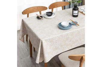 """(54"""" x 54""""-140x140 cm, Ginkgo Leaf Pattern) - LEEVAN Vinyl Tablecloth Heavy Weight PVC Rectangle Table Cover 100% Waterproof Oil-Proof Stain-Resistant Table Cloth for Indoor and Outdoor Use -140cm x 140cm ,Ginkgo Leaf Pattern"""