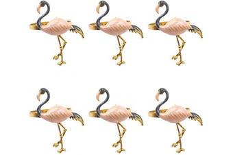 (Beige) - Joyindecor Flamingo Napkin Rings Set of 6 - Metal AJoyindecor Flamingo Napkin Rings Set of 6 - Metal Animal Bird Nautical Napkin Ring Holders Bulk for Wedding Party and Dining Table Decor (Beige)