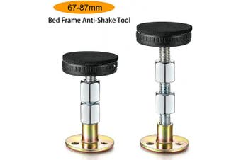 (67-87mm) - Alltripal Adjustable Threaded Bed Frame Anti-Shake Tool for Bed (67-87mm)