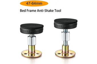 (47-64mm) - Alltripal Adjustable Threaded Bed Frame Anti-Shake Tool for Bed (47-64mm)