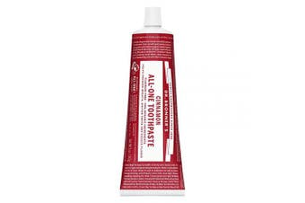 (150ml) - Dr. Bronner's - All-One Toothpaste (Cinnamon, 150ml) - 70% Organic Ingredients, Natural and Effective, Fluoride-Free, SLS-Free, Helps Freshen Breath, Reduce Plaque, Whiten Teeth, Vegan