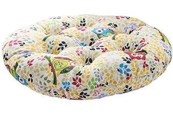 (Diameter 50cm , Owl) - vctops Bohemian Soft Round Chair Pad Garden Patio Home Kitchen Office Seat Cushion Owl Diameter 50cm