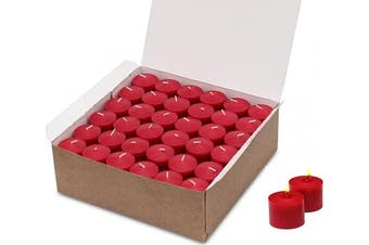 (Red) - 72 Bulk Red Colour Votive Candles Decorations for Wedding Holiday Romantic Dinner Restaurant Unscented up to 10 Hour Burn Time (Candle Holders Not Included) Made in USA
