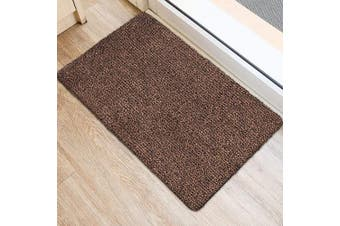 (90cm  x 60cm , Brown and Black Fibers) - BEAU JARDIN Indoor Super Absorbs Mud Doormat 90cm x 60cm Latex Backing Non Slip Door Mat for Front Door Inside Floor Dirt Trapper Mats Cotton Entrance Rug Shoes Scraper Machine Washable Rug Carpet