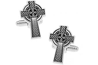 Celtic Cross Cufflinks. Novelty Christening Confirmation Religious Theme Jewellery
