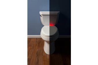 (Round - with Nightlight, White) - MAYFAIR 87SLNL 000 Nightlight Toilet Seat will Slow Close Never Loosen, ROUND, Long Lasting Solid Plastic, White