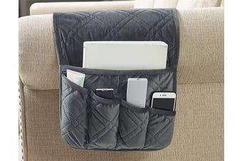 (Organiser, Gray) - Brilliant Sunshine Matching Sofa Furniture Organiser Hanging Storage with Pocket for TV Remote Controls, Pens, Books, Eye-Glasses and Magazines (90cm ×33cm Grey)