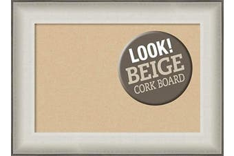(Board Size 18x12, Allure White) - Framed Tan Cork Board Bulletin Board   Tan Cork Boards Allure White Frame   Framed Bulletin Boards   60cm x 42cm .