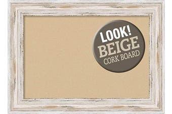 (Board Size 24x16, Alexandria White Wash) - Framed Tan Cork Board Bulletin Board   Tan Cork Boards Alexandria White Wash Frame   Framed Bulletin Boards   70cm x 50cm .