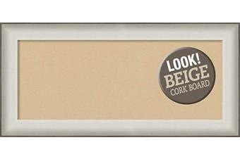 (Board Size 30x12, Allure White) - Framed Tan Cork Board Bulletin Board | Tan Cork Boards Allure White Frame | Framed Bulletin Boards | 90cm x 42cm .