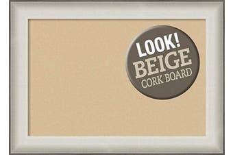 (Board Size 24x16, Allure White) - Framed Tan Cork Board Bulletin Board   Tan Cork Boards Allure White Frame   Framed Bulletin Boards   70cm x 50cm .