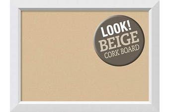 (Board Size 28x20, Blanco White) - Framed Tan Cork Board Bulletin Board   Tan Cork Boards Blanco White Frame   Framed Bulletin Boards   80cm x 60cm .