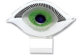 Badash - Visionary Good Luck Murano Style Art Glass Eye Centrepiece H7.5 x L10