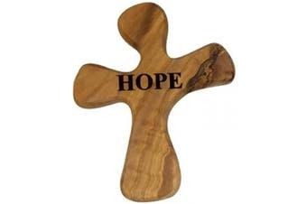 (Hope, Healing Cross) - Bethlehem Gifts TM Handcarved from Bethlehem Olive Wood Cross Crucifix (Healing Cross, Hope)