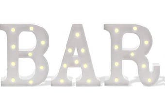 (30cm , Bar) - Barnyard Designs Metal Marquee BAR Sign Light Up Wall Decor: Wedding, Parties, Home and Bar Decoration 30cm (White)