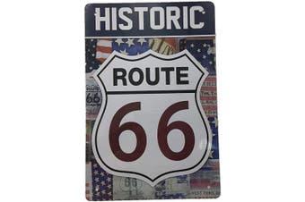 (427) - AIQIBAO Metal Vintage Tin Sign Decor-Historic Route 66 for Movie House Bar Pub Funny Retro Wall Art Sign 30cm X 20cm