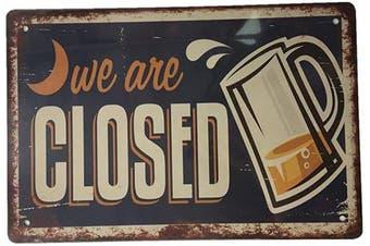 (435) - AIQIBAO Metal Vintage Tin Sign Decor for Bar Pub Restaurant Funny Retro Wall Art Sign 30cm X 20cm