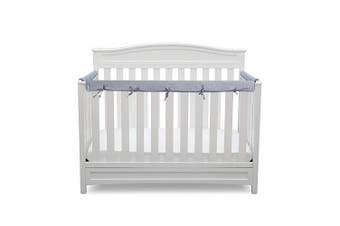 (gray) - 3-Piece Baby Crib Rail Cover Protector Set from Chewing,for 1 Front Rail and 2 Side Rails,100% Silky Soft Velvety Polyester,Safe and Secure Crib Rail Cover(Grey)