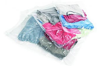 (41cm , Clear) - Samsonite Compression Packing Bags, Clear, 3-Piece Kit (Pouch/Carry-On/Large)