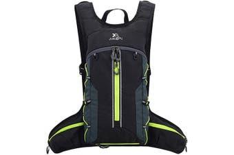 (Black Green 18L) - BWBIKE Bike Backpack Waterproof, Foldable Bike Daypack, Breathable Lightweight for Outdoor Sports Travel Mountaineering 18L
