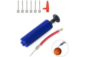 ANNADA Ball Pump Set with 7 Needle Pins and Set 1 Pcs Valve Adapter 1 Pcs Air Hose for Football, Rugby Ball, Volleyball, Basketball, Handball and other balls